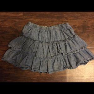 💗 girls denim tier skirt